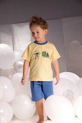 Piccolo meva Samuel 2973 żółto-niebieska Piżamka chłopięca