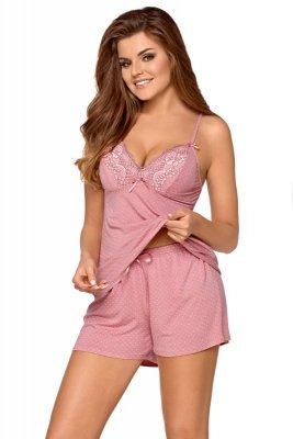 Babella Rafaela Pastelowy róż piżama damska