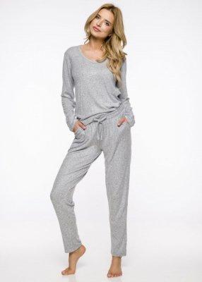 Taro Winter 2321 AW/19 - Kolor 01 - Szary melnage piżama damska