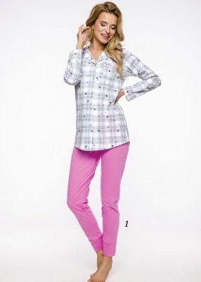 Taro Dalia 2239 AW/19 - Kolor 01 - Szaro-różowa piżama damska