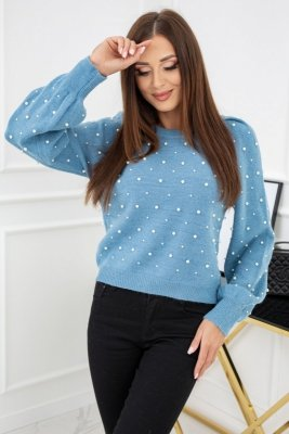 Vittoria Ventini Promise Pearls Turquoise CH292 sweter damski