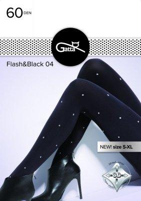 Gatta Flash & Black wz.04 60 den 5XL rajstopy damskie