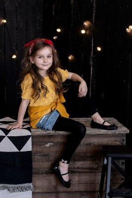 Knittex Elena 3D legginsy dziecięce