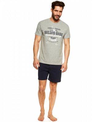 Henderson Join 36823-90X Szaro-granatowa piżama męska