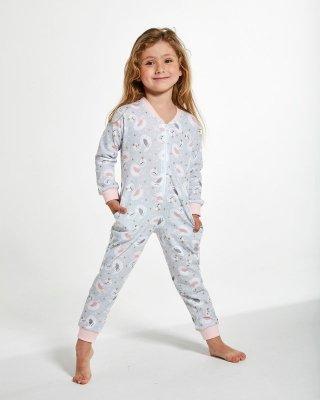 Cornette Kids Girl 384/136 Swan 2 86-128 kombinezon piżama dziewczęca