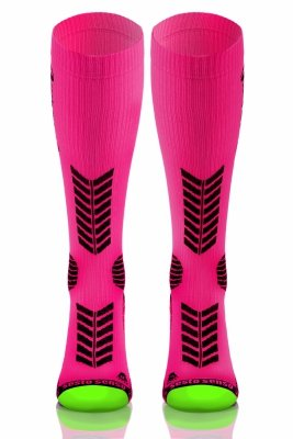 Sesto Senso Compression Socks różowe Podkolanówki
