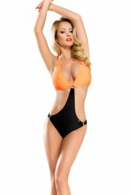 Demoniq Solange black orange Monokini