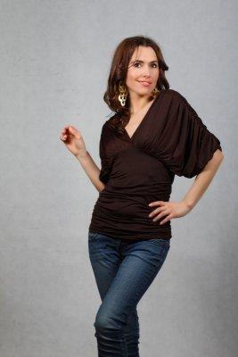Vittoria Ventini Blanche brązowa bluzka damska
