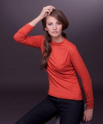 Lookat Larita 3588 pomarańczowa bluzka damska
