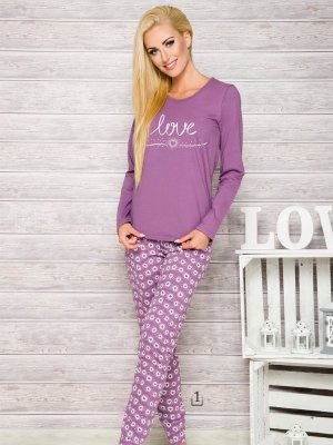 Taro Malina 1198 AW/17 K1 Wrzos piżama damska