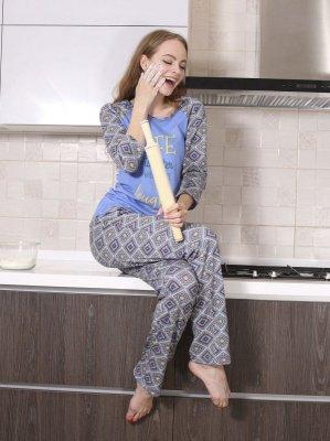 Roksana Zoe 547 Niebieska piżama damska