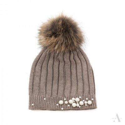 art of polo Perła elegancji Mokka czapka