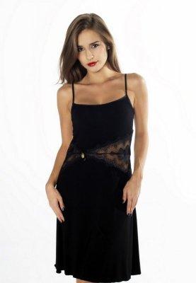 Gaia Persefona z bursztynem NKV121 Czarna koszula nocna