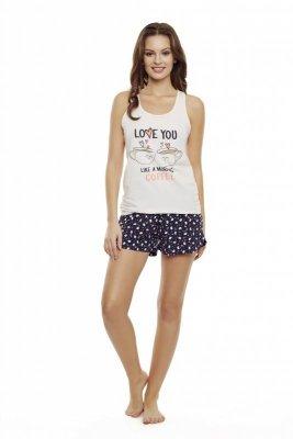 Henderson Danni 35831-03X Różowo-granatowa piżama damska