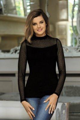 Babell Noelia Czarna bluzka damska