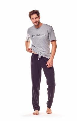 Henderson Gale 36214-90X Szaro-czarna piżama męska