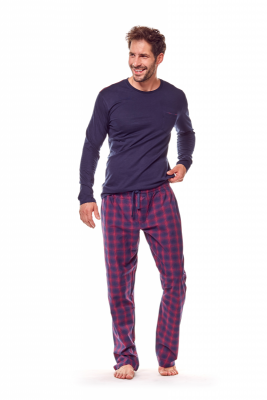 Henderson Ghost 36216-59X Granatowo-czerwona piżama męska