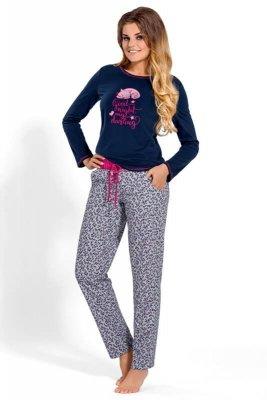 Babella Darling 3103 Granatowo-szara piżama damska