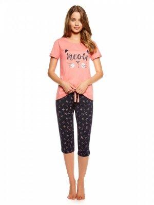 Henderson Trixie 36794-32X Koralowo-granatowa piżama damska