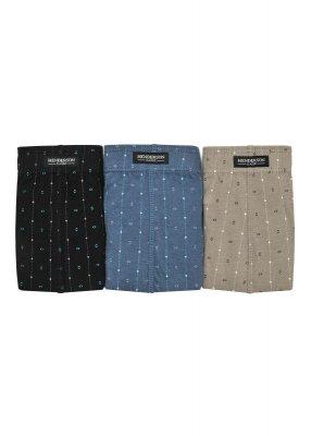 Henderson 1446 Czarne-jeans-oliwkowe (zestaw 3 sztuk) slipy