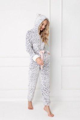 Aruelle  Wild Look Onesie Grey piżama damska