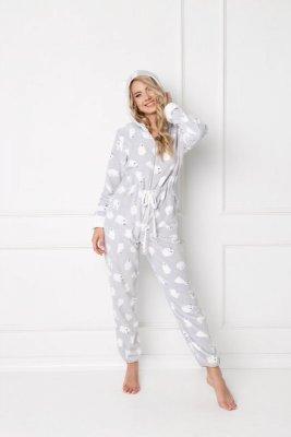 Aruelle Polar Bear Onesie Grey piżama damska