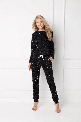 Aruelle Hearty Set Black dres piżama damska