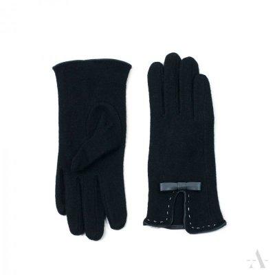 Art of Polo Bordeaux Czarne rękawiczki