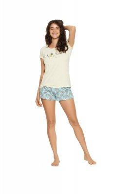 Hendesron Ladies Favor 38060-10X Żółto-turkusowa piżama damska