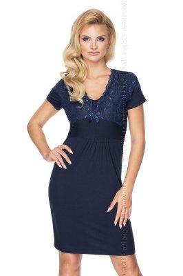 Irall Gia Navy Blue Quenn Size koszula nocna