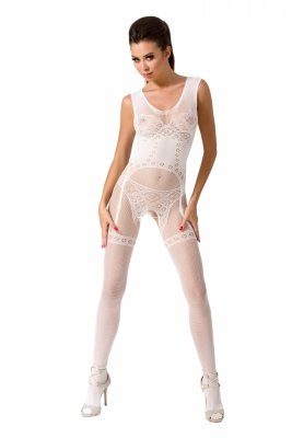 Passion BS052 white Bodystocking