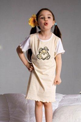 Piccolo Meva Ami 2981 żółta dziewczęca koszula nocna