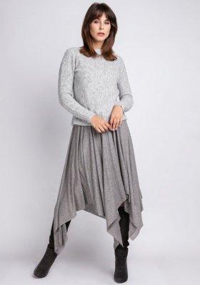 MKMSwetry Chloe SWE 091 szary sweter damski