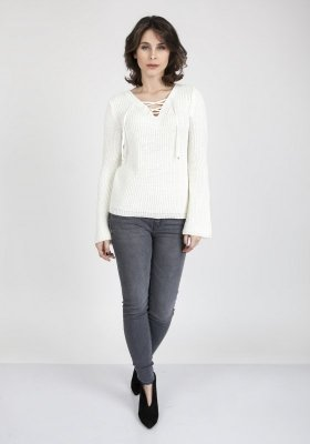 MKMSwetry Kylie SWE 117 Ecru sweter damski