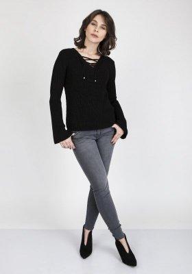MKMSwetry Kylie SWE 117 Czarny sweter damski