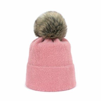 Art of Polo Soft Fluff Różowa czapka damska
