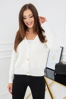 Vittoria Ventini Noelle Gold Buttons Cream SC126 sweter damski