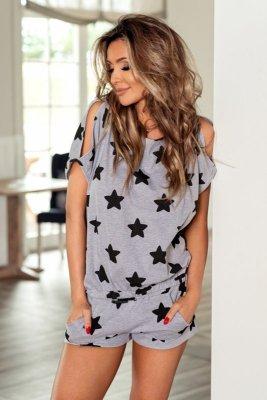 Pigeon p-576 czarny piżama damska