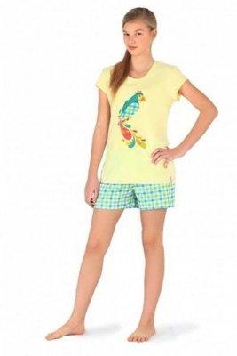Cornette 550/16 Parrot żółty piżama damska