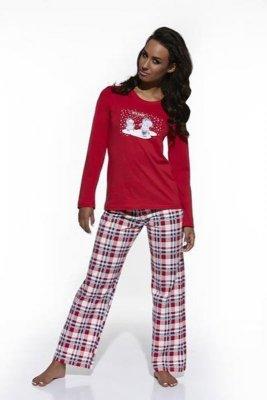 Cornette 655/12 czerwony piżama damska