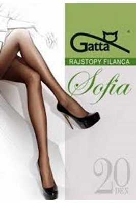 Gatta elastil sophia plus grafitowy rajstopy