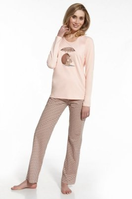Cornette 655/41 Jeż morelowy piżama damska