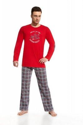 Cornette 124/38 New york2 czerwo grafitowy piżama męska