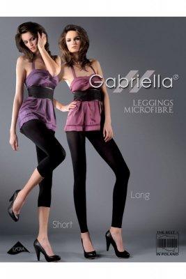 Gabriella 139 microfibra long nero legginsy