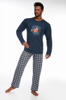 Cornette 124/63 Hockey jeans piżama męska