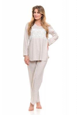 Dobranocka 9146 beige melange piżama damska