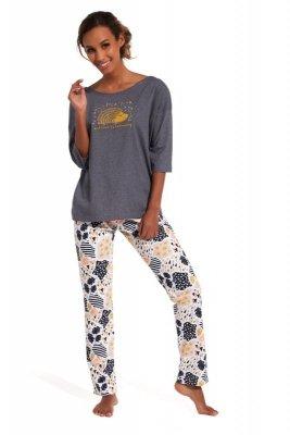 Cornette 143/134 Rain grafitowy piżama damska