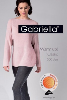 Gabriella 409 warm up 200 den nero rajstopy