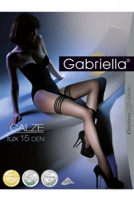 Gabriella 202 Calze Lux 15 den ecru Pończochy samonośne
