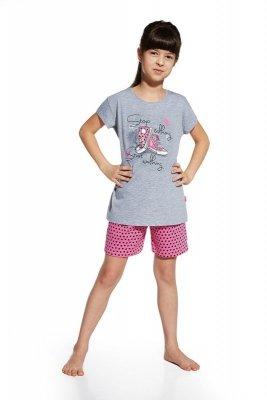 Cornette krótki rękaw 787/51 Shoes melanż piżama dziewczęca